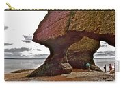Under Fundy Feet In Big Cove At Hopewell Rocks-new Brunswick Carry-all Pouch
