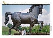 Under Leonardo's Horse Carry-all Pouch