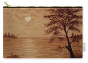 Under Moonlight Original Coffee Painting Carry-all Pouch