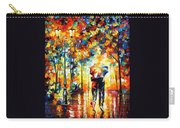 Under One Umbrella - Palette Knife Figures Oil Painting On Canvas By Leonid Afremov Carry-all Pouch