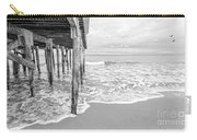 Under The Boardwalk Black And White Carry-all Pouch