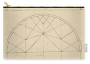 Underdrawing For Building Temporary Arch Carry-all Pouch