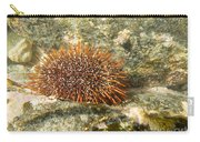 Underwater Shot Of Sea Urchin On Submerged Rocks Carry-all Pouch
