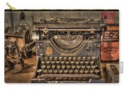 Underwood Typewriter Number 5 Carry-all Pouch by Debra and Dave Vanderlaan