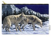 Wolves - Unfamiliar Territory Carry-all Pouch by Crista Forest