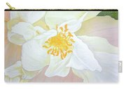 Unfurling White Hibiscus Carry-all Pouch