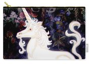 Unicorn Floral Carry-all Pouch by Genevieve Esson