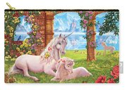 Unicorn Mother And Foal Carry-all Pouch