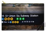 Union Square Subway Station Carry-all Pouch by Susan Candelario