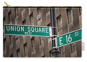 Union Square West I Carry-all Pouch by Susan Candelario