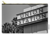 Union Station Sign Black And White Carry-all Pouch