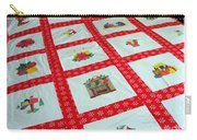 Unique Quilt With Christmas Season Images Carry-all Pouch