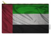 United Arab Emirates Flag Waving On Canvas Carry-all Pouch
