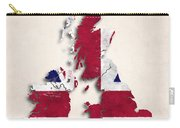 United Kingdom Map Art With Flag Design Carry-all Pouch