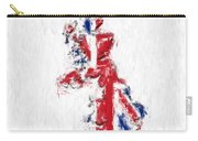 United Kingdom Painted Flag Map Carry-all Pouch