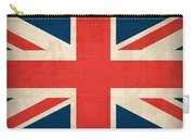 United Kingdom Union Jack England Britain Flag Vintage Distressed Finish Carry-all Pouch by Design Turnpike