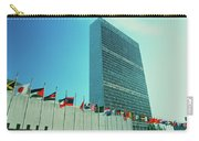 United Nations Building With Flags Carry-all Pouch