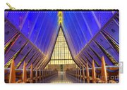 United States Airforce Academy Chapel Interior Carry-all Pouch