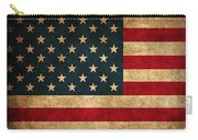 United States American Usa Flag Vintage Distressed Finish On Worn Canvas Carry-all Pouch by Design Turnpike