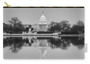 United States Capitol Building Bw Carry-all Pouch by Susan Candelario
