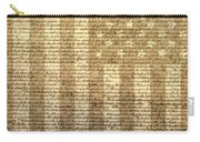 United States Declaration Of Independence Carry-all Pouch by Dan Sproul