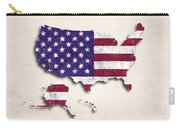 United States Map Art With Flag Design Carry-all Pouch
