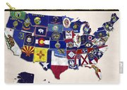 United States Map With Fifty States Carry-all Pouch