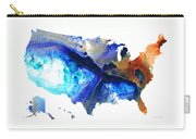 United States Of America Map 7 - Colorful Usa Carry-all Pouch