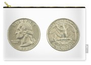 United States Quarter On White Background Carry-all Pouch
