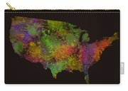 Unites States Watercolor Map Carry-all Pouch