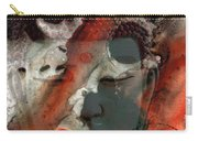 Universal Qi - Zen Black And Red Art Carry-all Pouch by Sharon Cummings