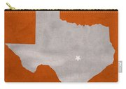 University Of Texas Longhorns Austin College Town State Map Poster Series No 105 Carry-all Pouch
