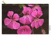 Pink Geranium Flower Carry-all Pouch