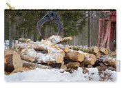 Unloading Firewood 3 Carry-all Pouch