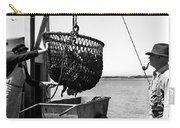 Unloading Fish From Monterey's Wharf Two Circa 1950  Carry-all Pouch