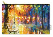 Unresolved Feelings - Palette Knife Oil Painting On Canvas By Leonid Afremov Carry-all Pouch