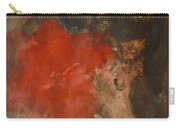 Untitled Abstract - Umber With Scarlet Carry-all Pouch