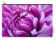 Up-close Flower Power Pink Mum  Carry-all Pouch
