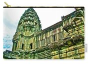 Upper Level Tower In Angkor Wat In Angkor Wat Archeological Park Near Siem Reap-cambodia Carry-all Pouch