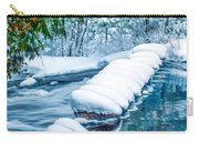 Upper Part Of Bond Falls In Winter Carry-all Pouch
