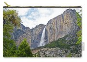 Upper Yosemite Falls From The Valley Floor In Yosemite National Park-california Carry-all Pouch