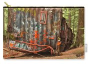 Upside Down Derailed Box Car Carry-all Pouch