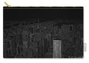 Uptown Nyc White On Black Carry-all Pouch