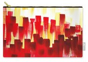Urban Abstract Red City Lights Carry-all Pouch