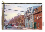 Urban Winter Landscape Colors Of Quebec Cold Day Pointe St Charles Street Scene Montreal  Carry-all Pouch