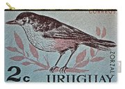 Uruguay Bird Stamp - Circa 1962 Carry-all Pouch