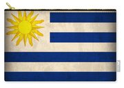Uruguay Flag Vintage Distressed Finish Carry-all Pouch