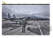 U.s. Air Force Pilot Standing In Front Carry-all Pouch