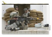 U.s. Army Soldier Looks Down The Scope Carry-all Pouch