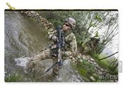 U.s. Army Soldier Walks Through A Creek Carry-all Pouch
